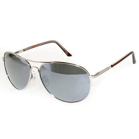 Dockers Mens Polarized Metal Aviator Sunglasses
