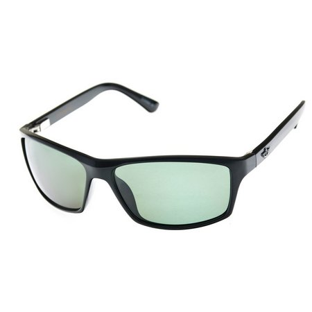 Dockers Mens Black Wrap Polarized Sunglasses