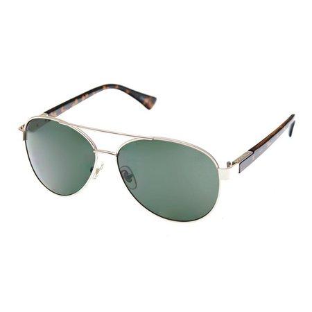 Dockers Mens Gold Tortoise Polarized Sunglasses