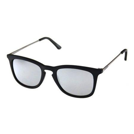 Dockers Mens Black Keyhole Polarized Sunglasses