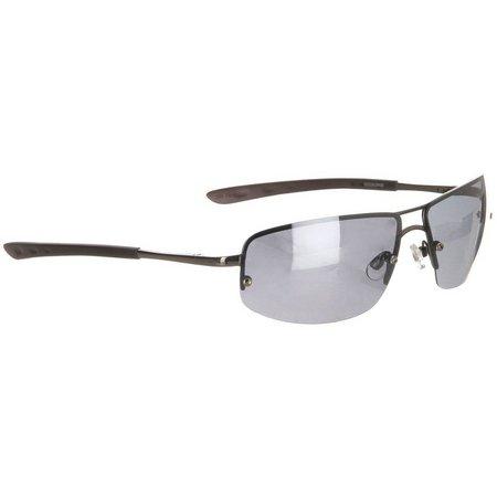 Dockers Polarized Rimless Metal Pilot Sunglasses