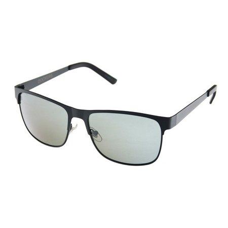 Dockers Mens Polarized Black Metal Sunglasses
