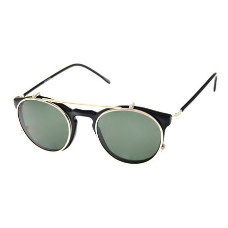 Dockers Mens Gold Inlay Round Polarized Sunglasses