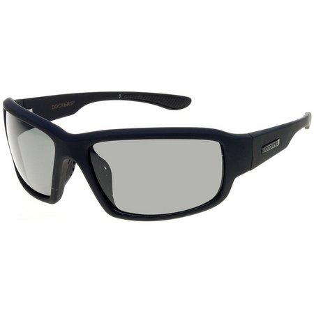 Dockers Mens Polarized Black Wrap Sunglasses