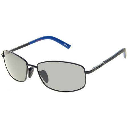 Dockers Mens Black & Blue Rectangle Sunglasses