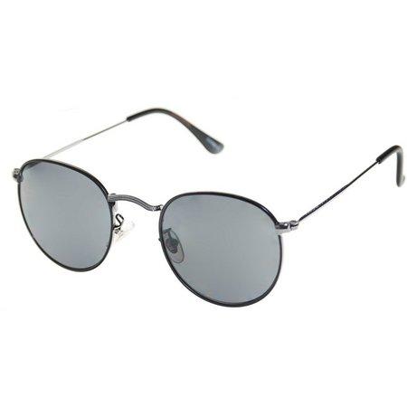 Dockers Mens Round Smoke Sunglasses