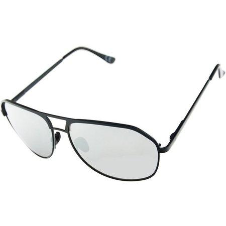 Riviera Mens Metal Aviator Sunglasses