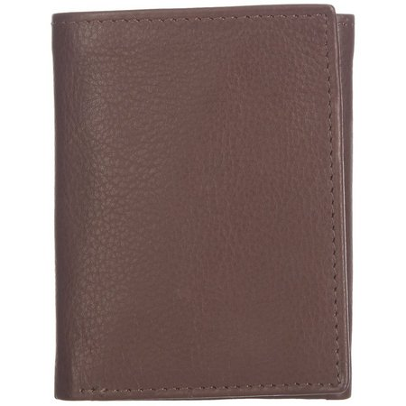 Boca Classics Mens Leather Tri Fold ID Wallet