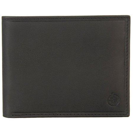 Boca Classics Mens Black Leather Passcase Wallet