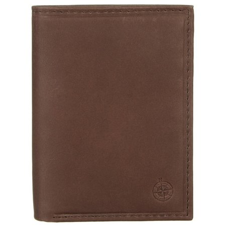 Boca Classics Mens Leather Trifold Wallet