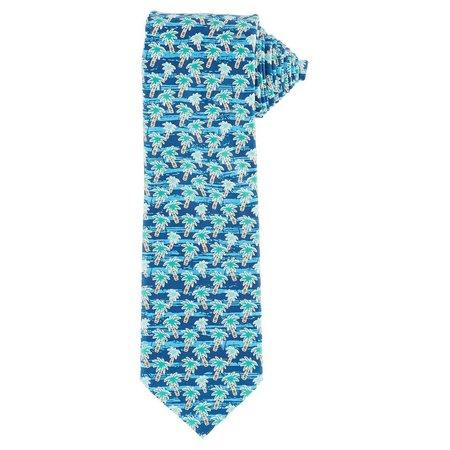 Boca Classics Blue Palms Tie