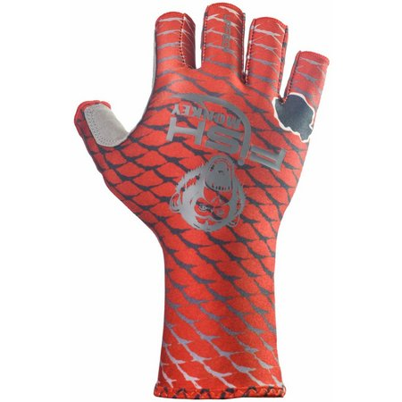 Fish Monkey Mens Redfish Half Finger Guide Gloves
