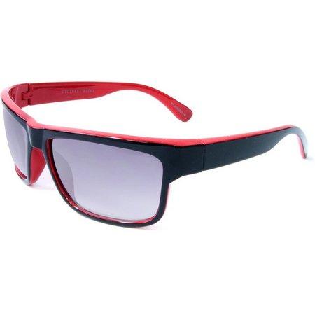 Geoffrey Beene Mens Black & Red Sunglasses