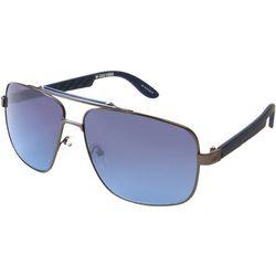 Zoo York Mens Blue Top Bar Aviator Sunglasses