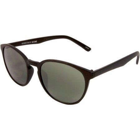 Geoffrey Beene Mens Retro Oval Sunglasses