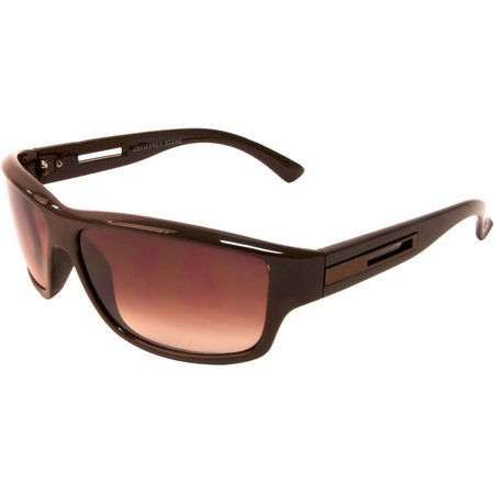 Geoffrey Beene Mens Rectangle Wrap Sunglasses