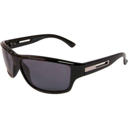 Geoffrey Beene Mens Black Wrap Sunglasses