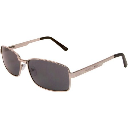 Geoffrey Beene Mens Gunmetal Rectangle Sunglasses