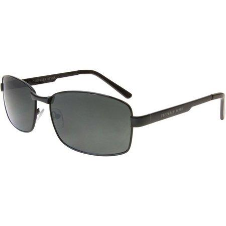 Geoffrey Beene Men Black Rectangle Sunglasses