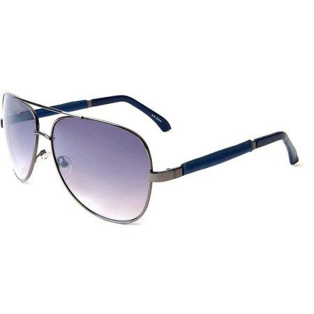 Geoffrey Beene Mens Leather Aviator Sunglasses
