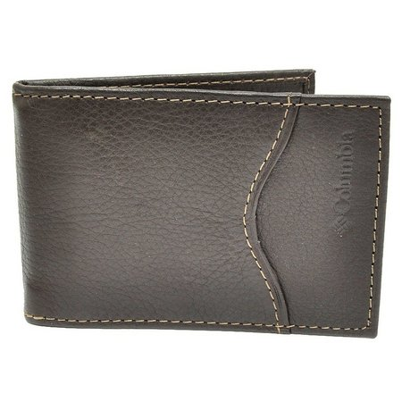Columbia Mens Brown Front Pocket Wallet