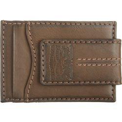 Levi's Mens Three Pocket Money Clip Wallet