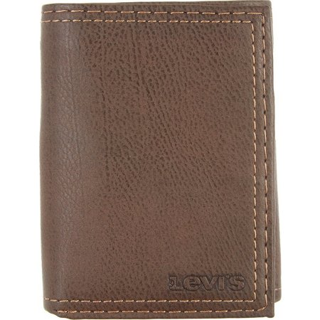 Levi's Mens Trifold Zipper Wallet
