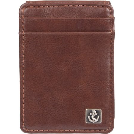 Dockers Mens RFID-Blocking Brown Magnetic Wallet