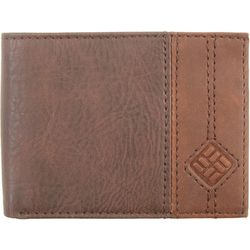 Columbia Mens Brown Slimfold Security Wallet
