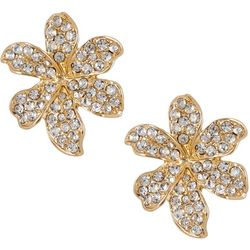 Vince Camuto Pave Crystal Flower Post Earrings