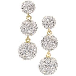 Vince Camuto Triple Pave Rhinestone Drop Earrings