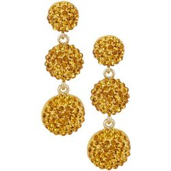 Vince Camuto Topaz Triple Pave Rhinestone Earrings