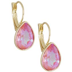 Vince Camuto Coral Facet Glass Teardrop Earrings