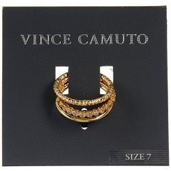Vince Camuto Goldtone 3-Pc Stackable Ring Set