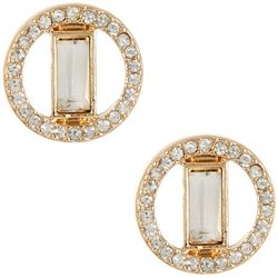 Vince Camuto Gold Tone Crystal Stud Earrings