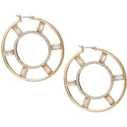 Vince Camuto Large Medallion Hoop Earrings