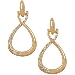 Vince Camuto Crystal Twist Doorknocker Earrings