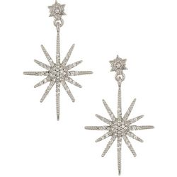 Vince Camuto Crystal Starburst Post Drop Earrings