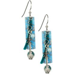 Silver Forest Patina Sea Charms Earrings