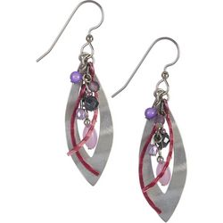 Silver Forest Multi Bead Layered Earrings