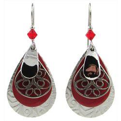 Silver Forest Multi Layered Teardrop Earrings