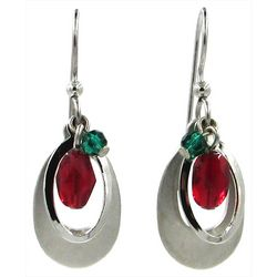 Silver Forest Open Bead Teardrop Earrings
