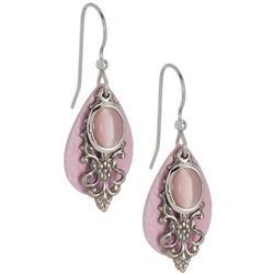 Triple Layer Silver Tone Dangle Earrings