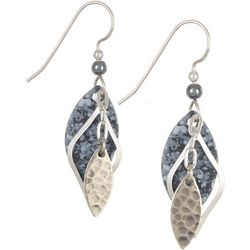Multi Grey Marquis Layered Earrings
