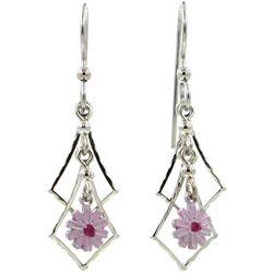 Silver Forest Cascading Flower Dangle Earrings