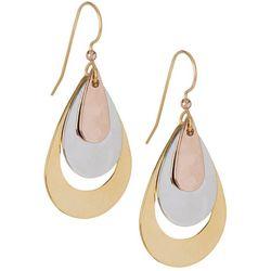 Silver Forest Tri-Colored Teardrop Earrings