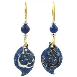 Silver Forest Gold Tone Paisley Swirl Drop Earrings