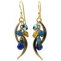 Beads & Leaves Drop Earrings