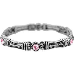FROM THE HEART Textured Column Pink Stone Bracelet