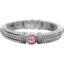 FROM THE HEART Braided Textured Stetch Bracelet
